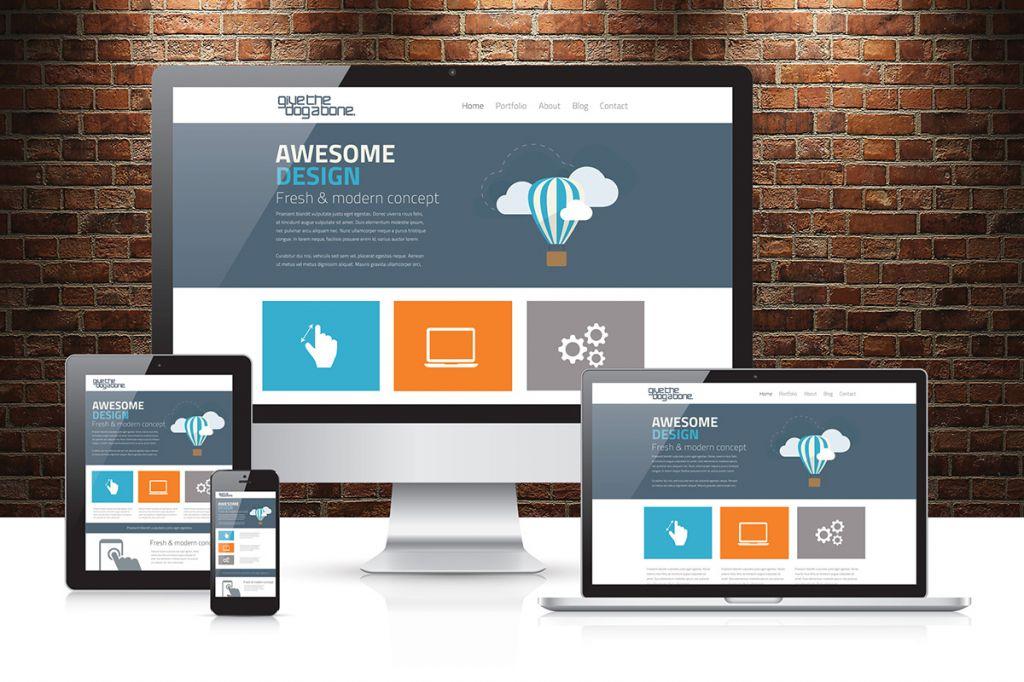 Webseiten für Desktop / Mobile